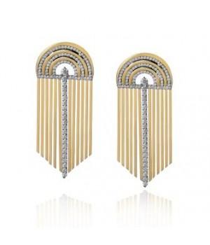 Золотые серьги Jjewels Samba collection с бриллиантами