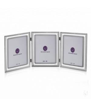 Рамка для фотографий серебро  10х15 см  тройная