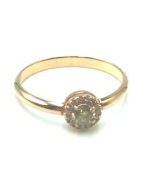 Кольцо с фантазийным бриллиантом