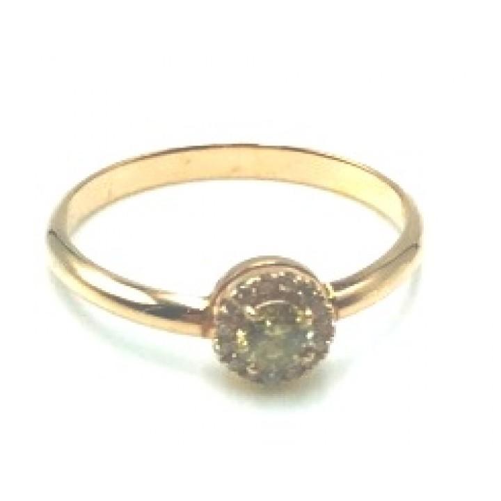 Золотое кольцо Igor Kalita  с фантазийным бриллиантом