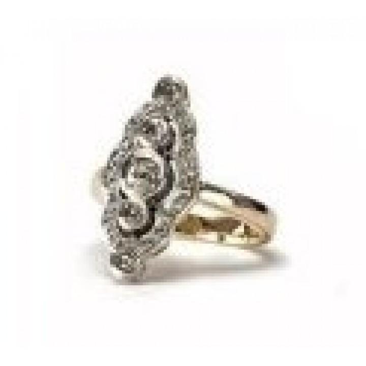 Золотое кольцо Agemina коньячный маркиз