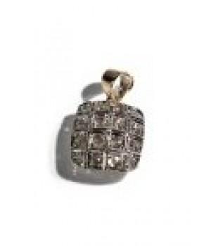 Подвеска Agemina c коньячными бриллиантами в форме квадрата