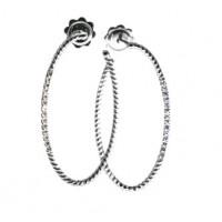 Золотые  серьги кольца leaderline с бриллиантами