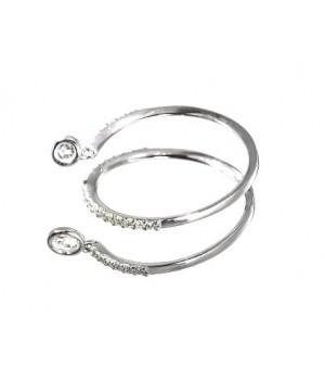 Золотое кольцо Leaderline спиралевидное с бриллиантами