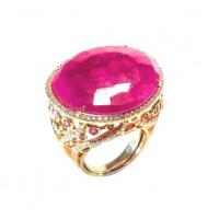Золотое кольцо Jjewels milano с рубином