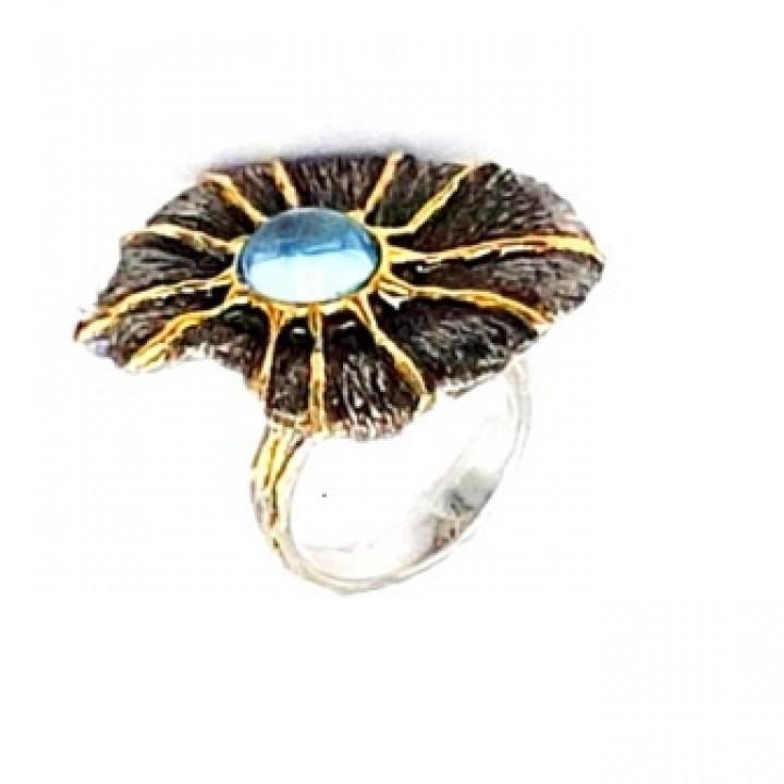 Серебряное кольцо  Igor Kalita с голубым топазом