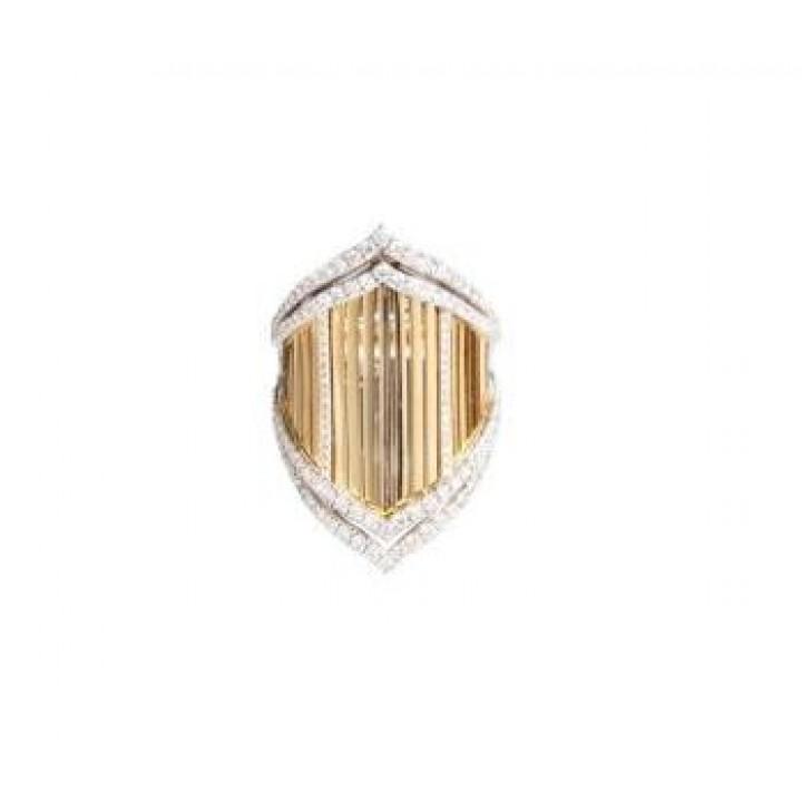 Золотое кольцо JJewels Milano Samba collection с россыпью. бриллиантов