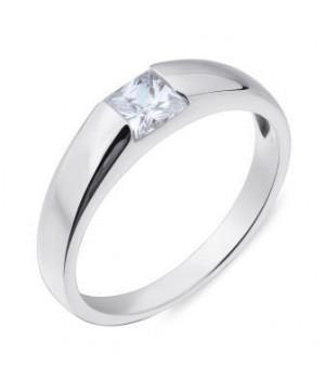 Серебрянное кольцо Comero group с маленьким кристаллом