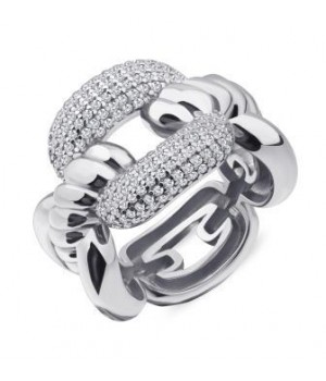 Серебряное кольцо Comero Group структурное