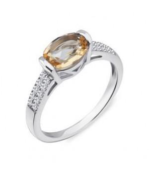 Серебряное кольцо  Comero group c искусственным топазом