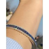 Золотой браслет Jjewels milano   с сапфирами и бриллиантами