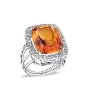 Золотое кольцо Ugolongobardo c цитрином и бриллиантами