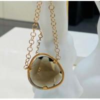 Золотое колье Jjewels Milano  с дымчатым кварцем
