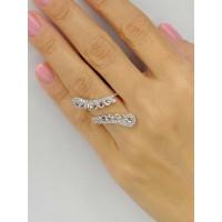 Золотое открытое кольцо Jjewels Milano c бриллиантами