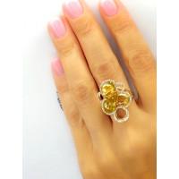 Золотоe  кольцо Jjewels  milano Alvea collection с турмалином и бриллиантами