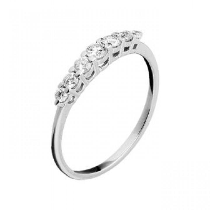Золотое кольцо Leaderline дорожка с бриллиантами