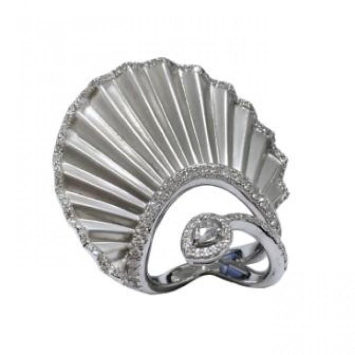 Золотое кольцо Jjewels Milano Plisse collection