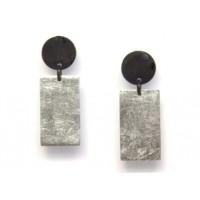 Серебряные серьги Shankara  в форме прямоугольника