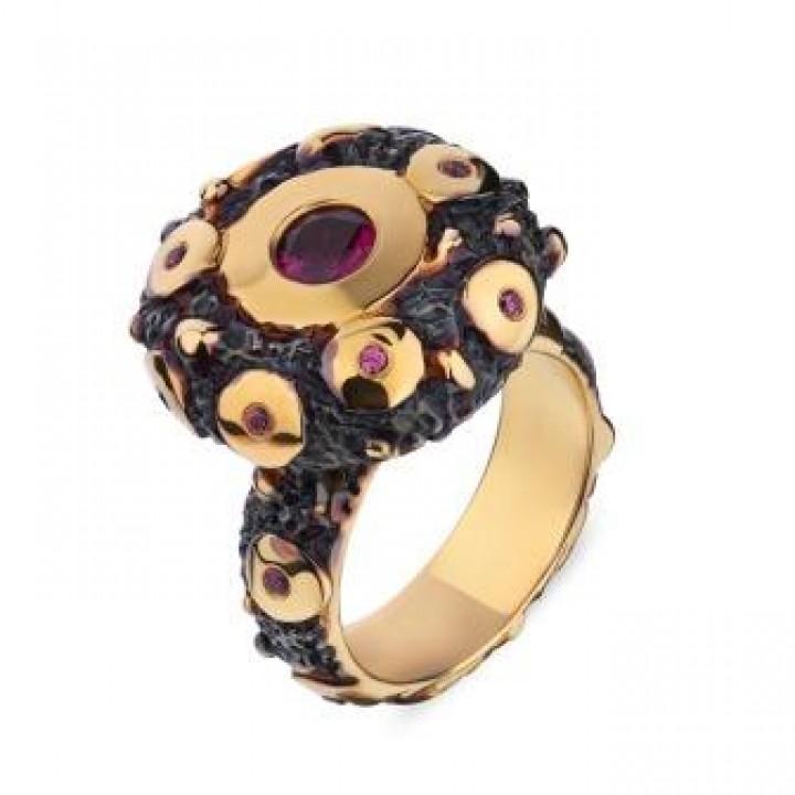 Серебряное кольцо Igor Kalita с родолитами