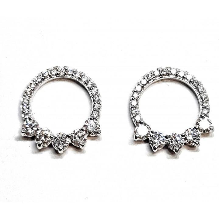 Серьги бриллиантовые круглые