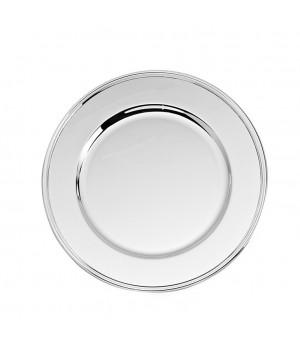 Тарелка классическая детская серебряная