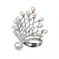 Золотое кольцо Jjewels Milano c морским жемчугом